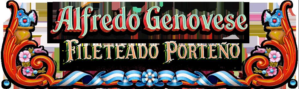 El Fileteado Porteño de Alfredo Genovese Logo